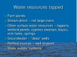 water resources tapped