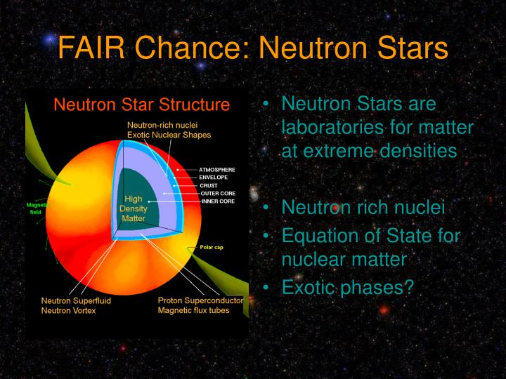 FAIR Chance: Neutron Stars