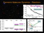 fermionic molecular dynamics reactions