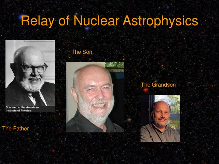 Relay of Nuclear Astrophysics