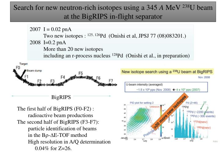 Search for new neutron-rich isotopes using a 345