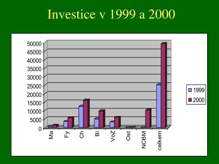 Investice v 1999 a 2000