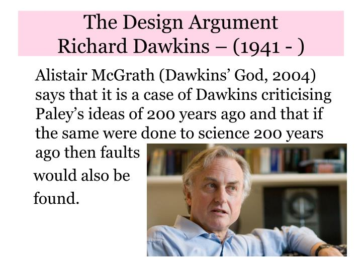 teleological argument essays The teleological argument [ta] is arguably one of the eldest and yet most popular arguments for the existence of god it argues that from evidence of design within the universe we can infer the likes of an intelligent designer we can do so in the same way that we warranted in inferring an.