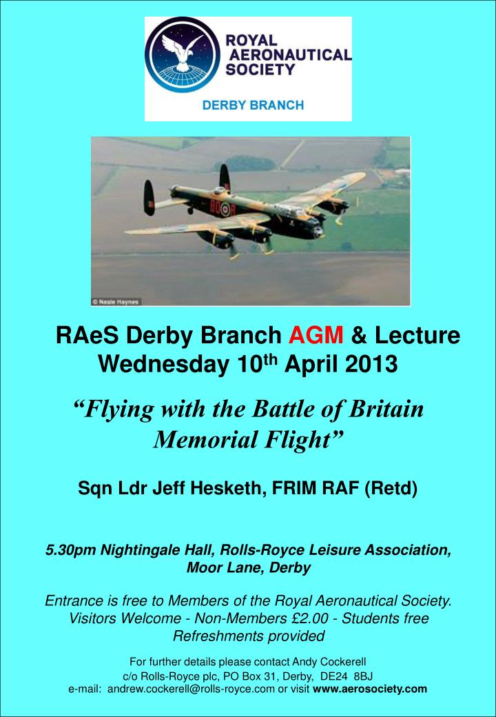 RAeS Derby Branch