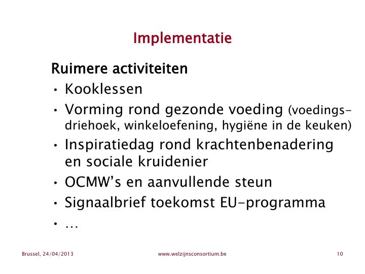 Implementatie