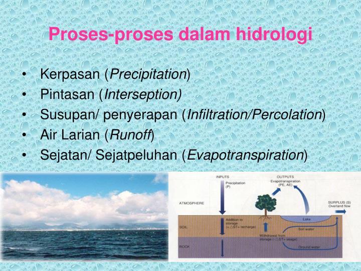 Proses-proses dalam hidrologi