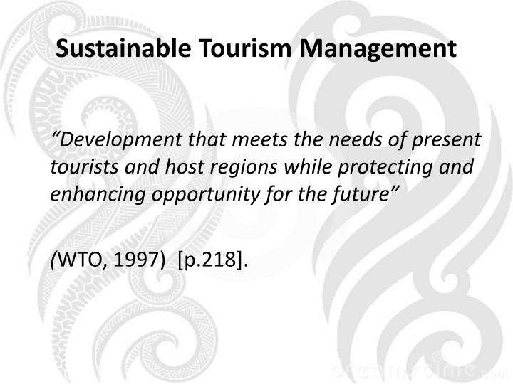 Sustainable Tourism Management