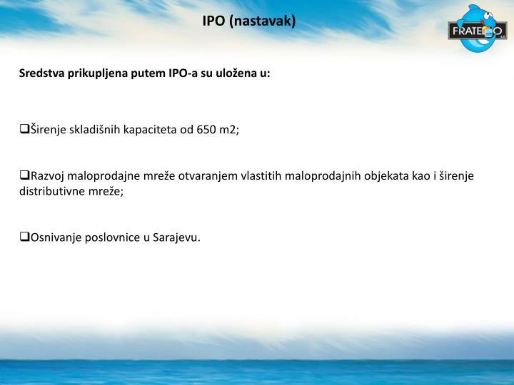 IPO (nastavak)