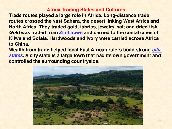 Africa Trading States and Cultures
