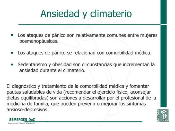 Ansiedad y climaterio