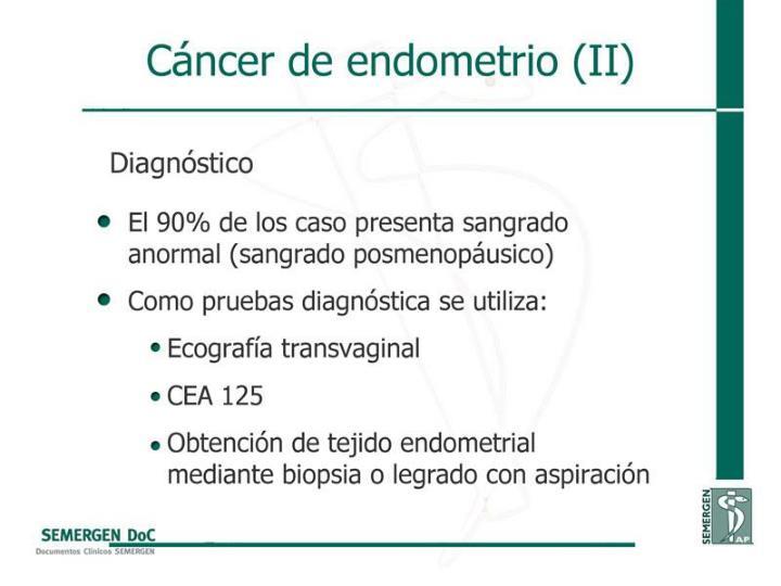 Cáncer de endometrio (II)