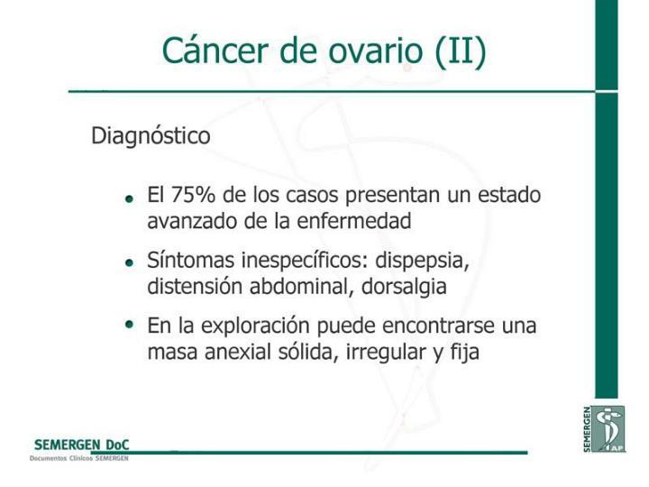 Cáncer de ovario (II)