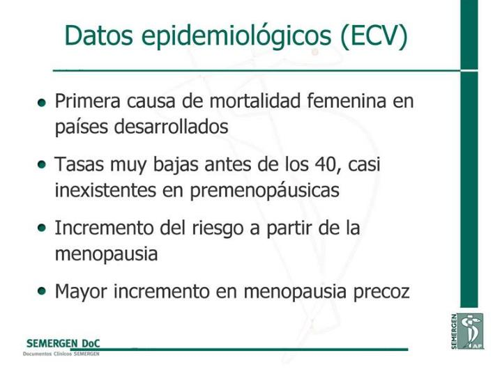 Datos epidemiológicos (ECV)