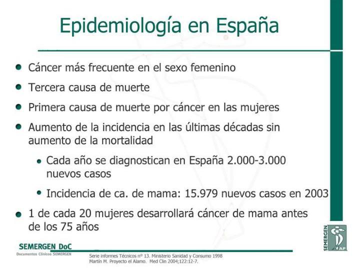 Epidemiología en España