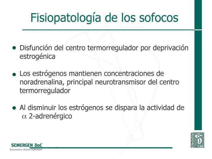Fisiopatología de los sofocos