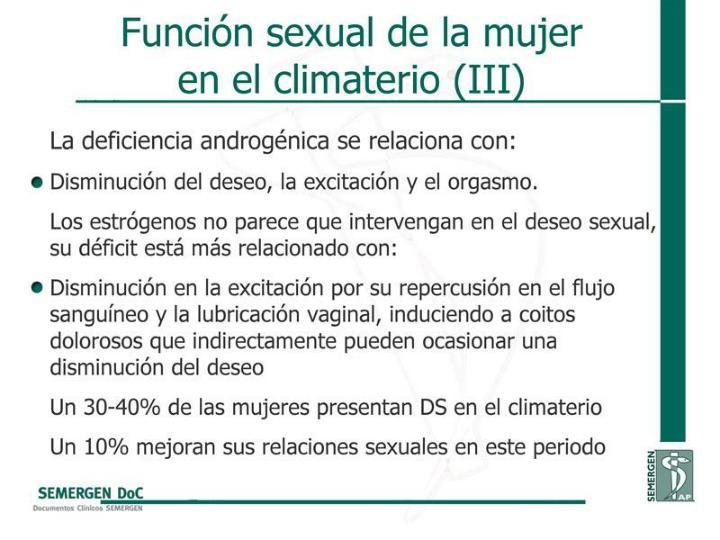 Función sexual de la mujer