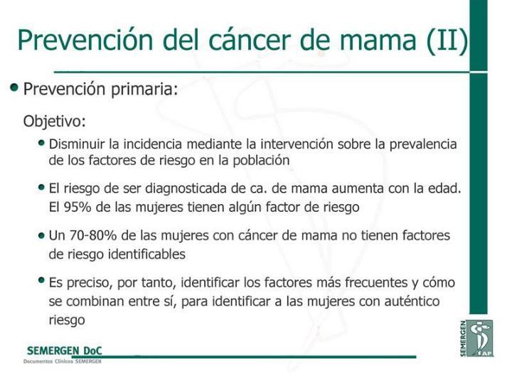 Prevención del cáncer de mama (II)