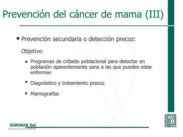 Prevención del cáncer de mama (III)