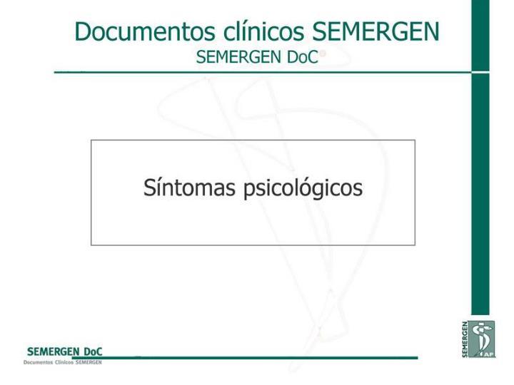 Síntomas psicológicos