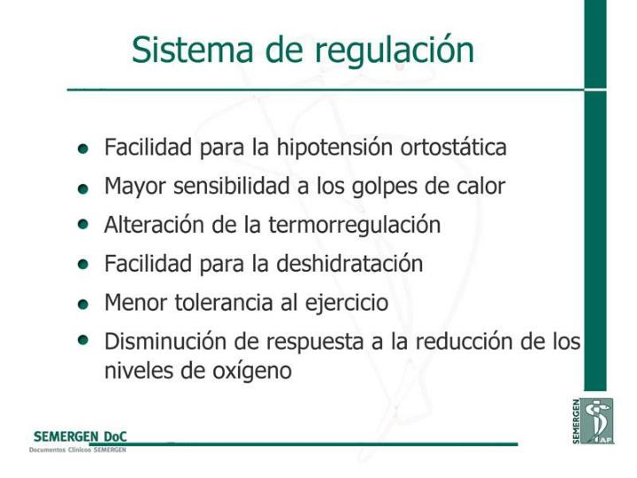 Sistema de regulación