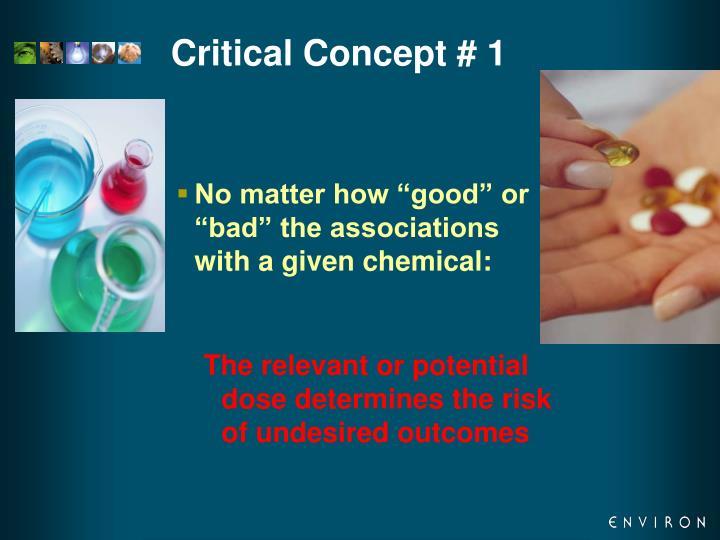 Critical Concept # 1