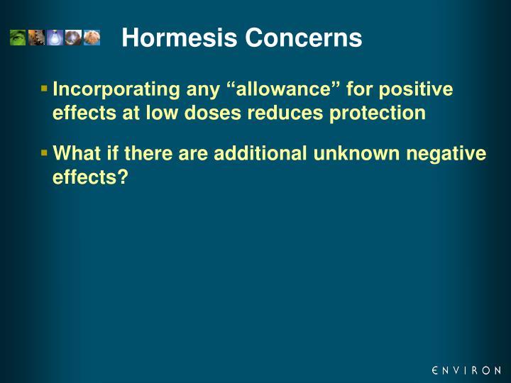 Hormesis Concerns