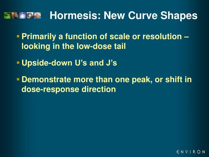 Hormesis: New Curve Shapes