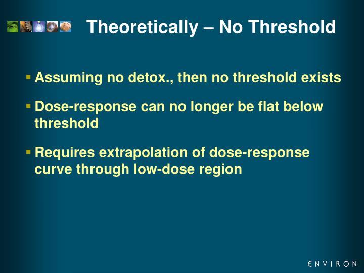 Theoretically – No Threshold