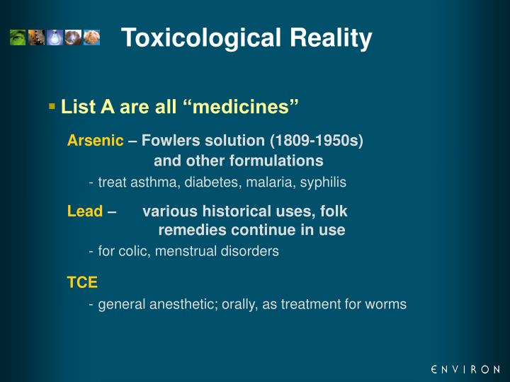 Toxicological Reality