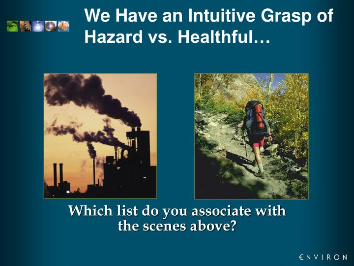 We Have an Intuitive Grasp of Hazard vs. Healthful…