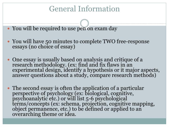 ap psychology exam essay answers