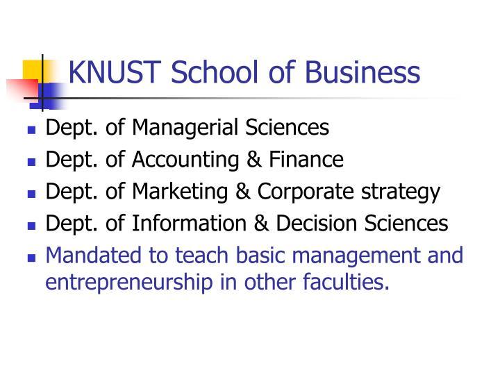 KNUST School of Business