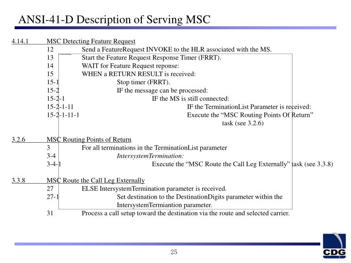 ANSI-41-D Description of Serving MSC