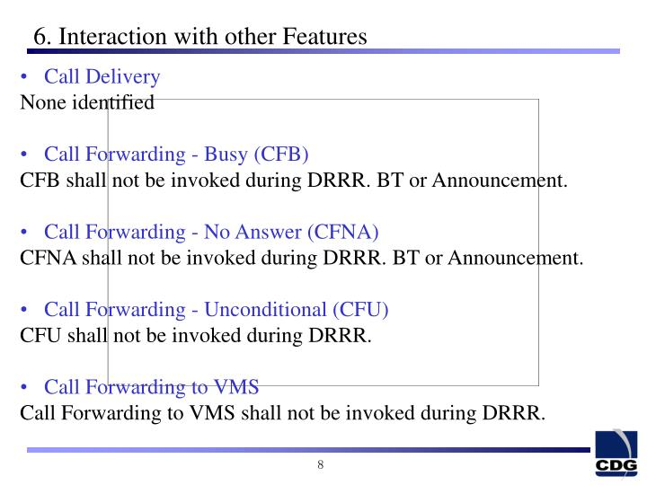 6. Interaction with other Features