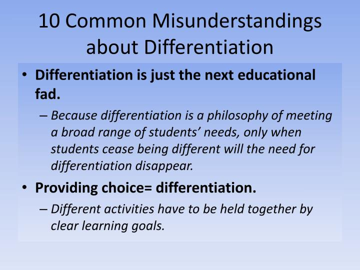 10 Common Misunderstandings