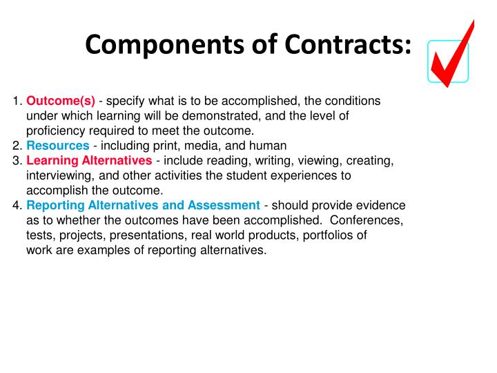 Components of Contracts: