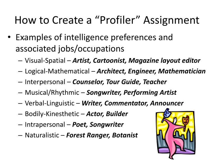 "How to Create a ""Profiler"" Assignment"