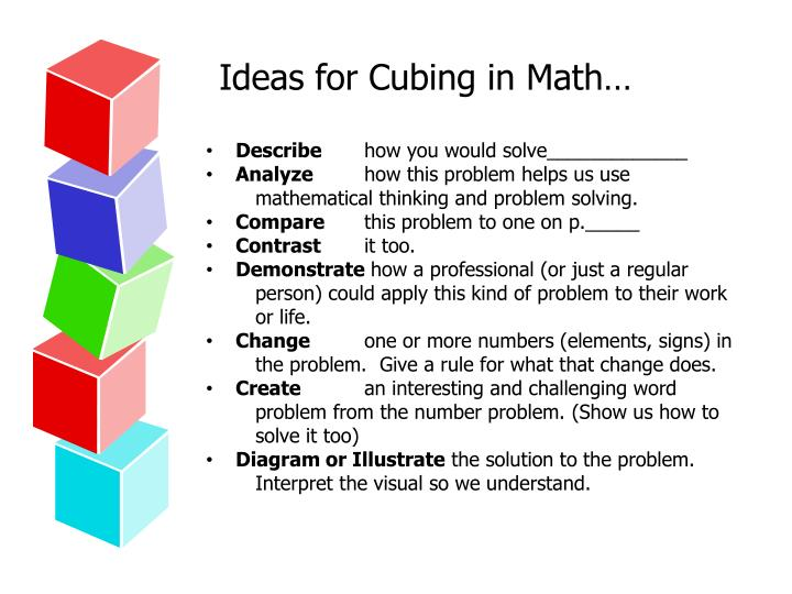 Ideas for Cubing in Math…