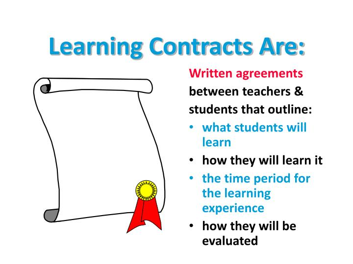 Learning Contracts Are: