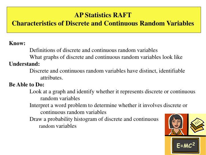 AP Statistics RAFT