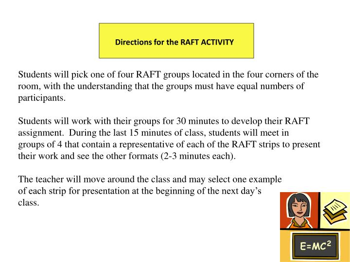 Directions for the RAFT ACTIVITY