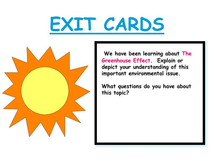 EXIT CARDS