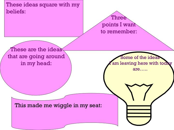 These ideas square with my beliefs: