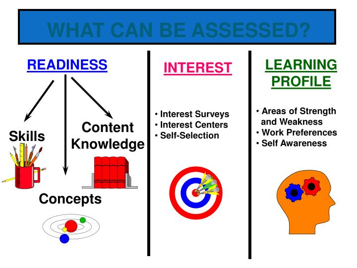 WHAT CAN BE ASSESSED?