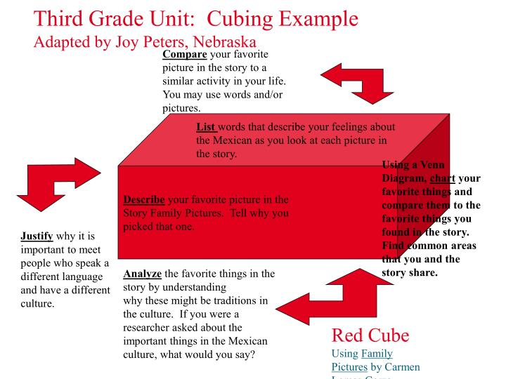 Third Grade Unit:  Cubing Example