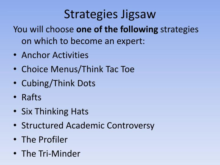 Strategies Jigsaw