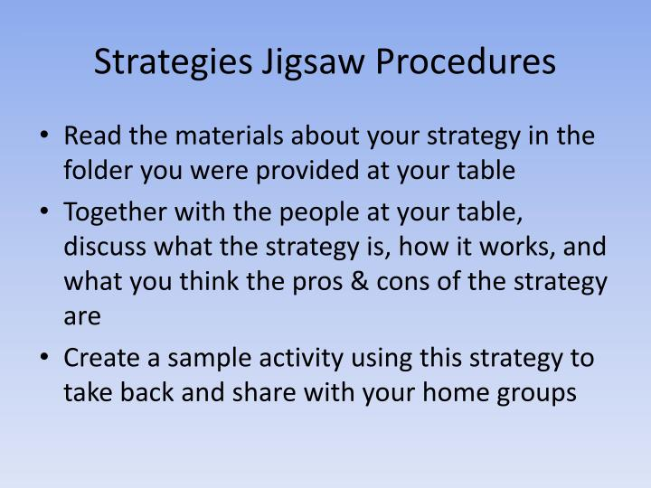 Strategies Jigsaw Procedures