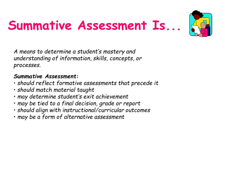 Summative Assessment Is...