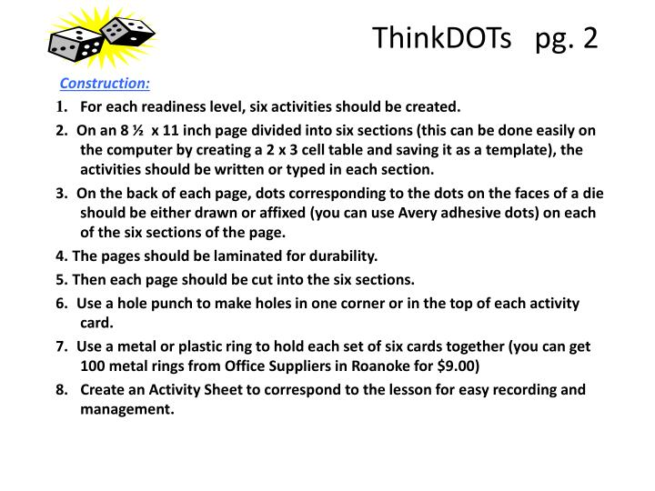ThinkDOTs   pg. 2