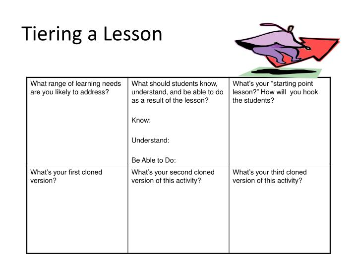 Tiering a Lesson